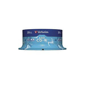Verbatim CD-R, 700MB, 80MIN, 52x, crystal, 43352, (25er Spindel)