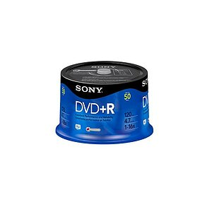 Sony DVD+R, 4.7GB, 1-16x, 50DPR47SP, (50er Spindel)