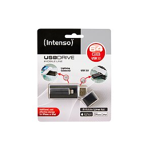 Intenso USB-Stick iMobile Line, 64GB, USB 3.0, 3535490